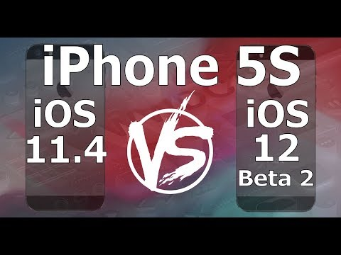 Speed Test : iPhone 5S - iOS 12 Beta 2 vs iOS 11.4 (iOS 12 Beta 2 Build 16A5308e)