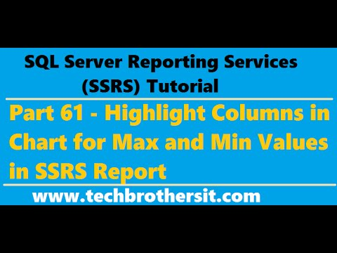 SSRS Tutorial 61 - Highlight Columns in Chart for Max and Min Values in SSRS Report