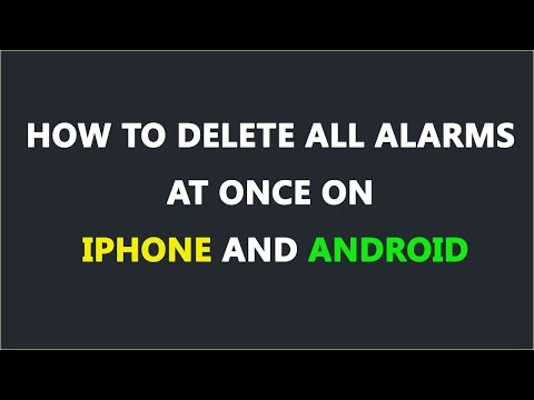 How to Delete All Alarms At Once on iPhone and Android In Hindi