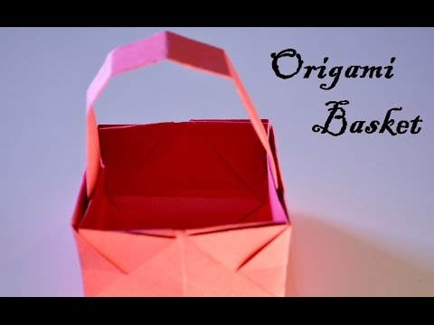 How to make a Paper Basket (christmas decorations)