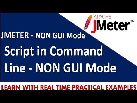 JMeter Tutorials   How to run JMeter script in Command Line - NON GUI Mode