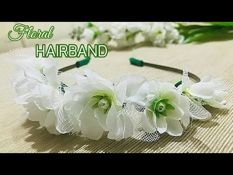 DIY-Floral hairband making/ recycle artificial flowers/ how to make hairband for kids