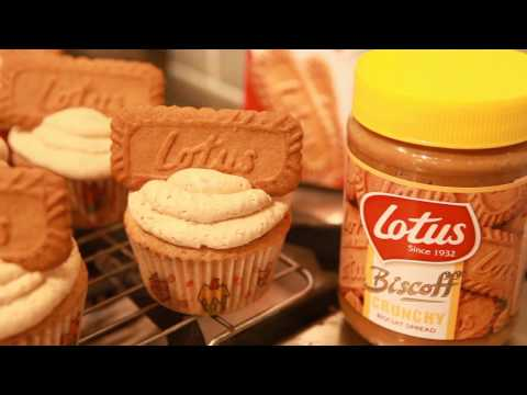 Lotus Biscoff Cupcakes  | How to create biscuit spread cakes