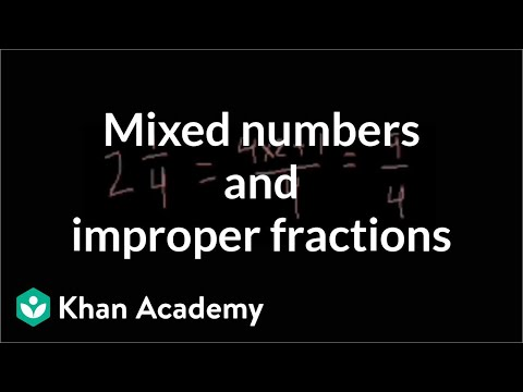 Mixed numbers and improper fractions | Fractions | Pre-Algebra | Khan Academy