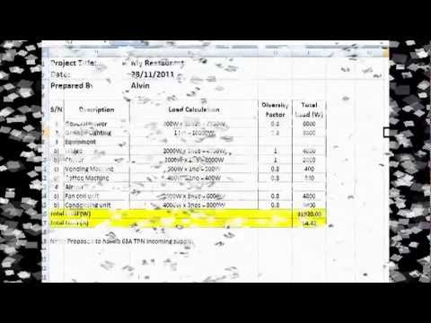 FLD Video Tutorial 1 - Electrical Load Calculation