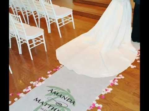Personalized Aisle Runners for Weddings