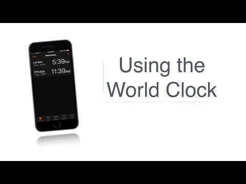 iFocus Using the World Clock - Apple Accessibility
