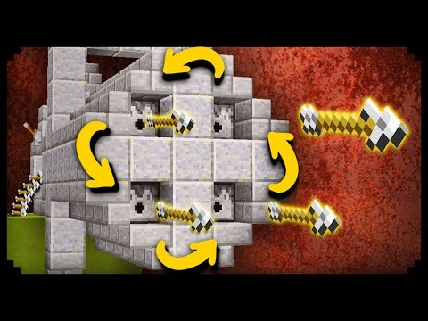 ✔ Minecraft: How to make a Working Minigun