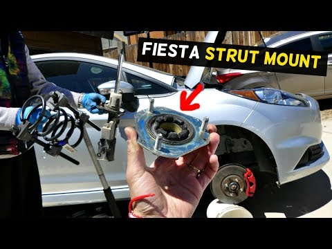 FORD FIESTA FRONT STRUT SHOCK MOUNT REPLACEMENT REMOVAL MK7 ST