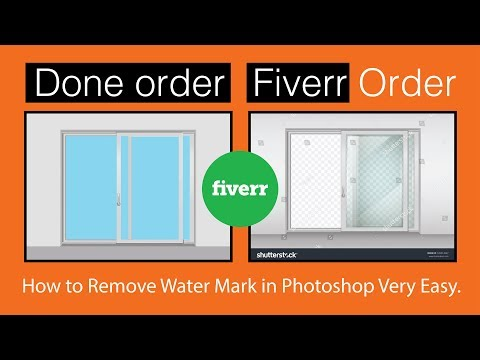 Fiverr Order | How to remove the watermark in Photoshop very easy