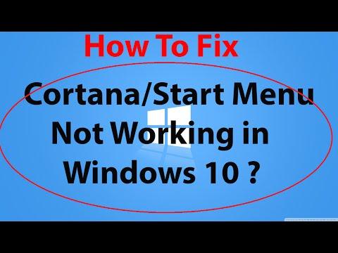 How to Fix Start Menu/Cortana not Working,Critical Error in Windows 10 ?