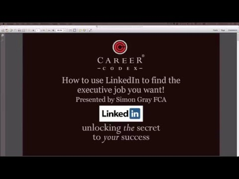 How to use LinkedIn to find the executive job you want!