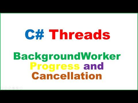 C# Threads :  Worker Thread With ProgressBar Update