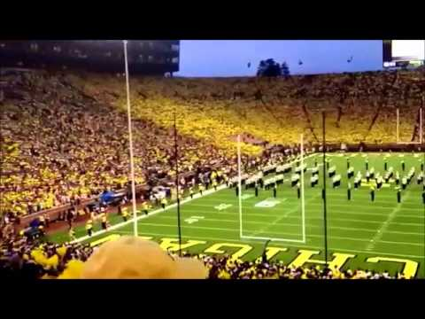 The University of Michigan Wolverines Football 2014 Team 135 Let's Go Blue Chant