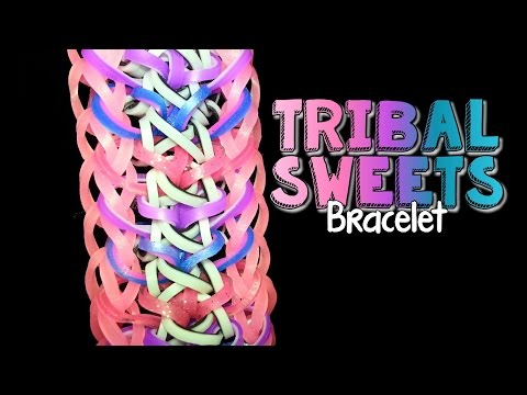 TRIBAL SWEETS Hook and Rainbow Loom Bracelet Tutorial