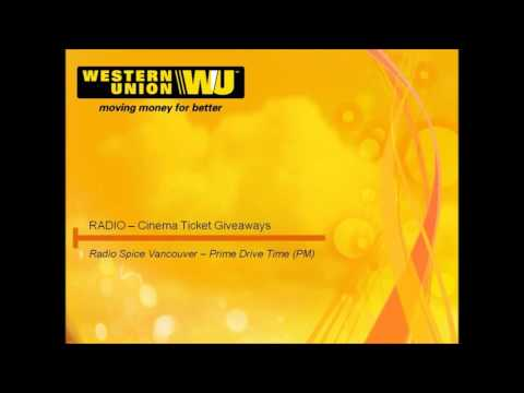 Western Union Canada-'FAN' Movie ticket Giveaways on Radio Spice, Vancouver (BC).