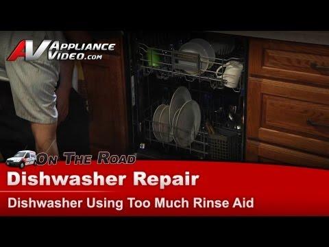 Kitchenaid Dishwasher Repair - Using too much rinse aid - KUDS30IXBT8