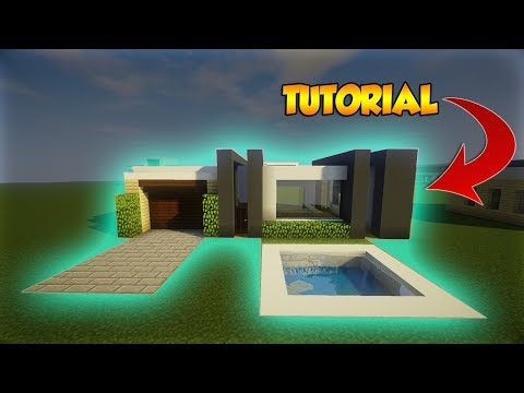 Minecraft: Small Modern Tutorial - How to build a Modern House