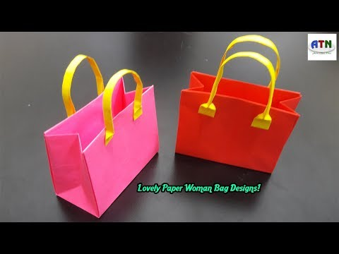 Origami Handmade Mini Paper Bags | DIY Paper Crafts | Origami Kids Bag