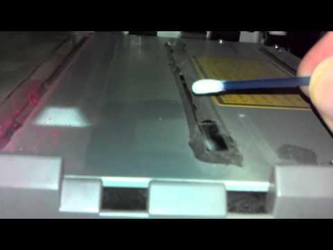 Cleaning the laser apertures on a Konica Minolta 5430DL laser printer