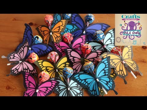 DIY: How to make beautiful colorful butterfly decoration on a lollipop TUTORIAL