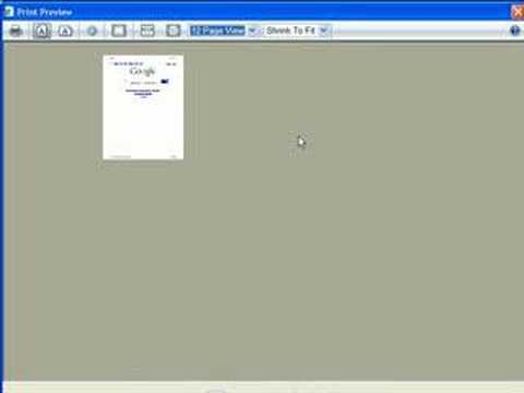 Preview and adjust pages before printing in IE7