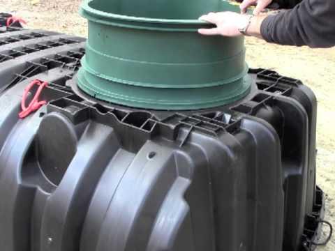 Installing a Septic Tank Riser on an Infiltrator Tank