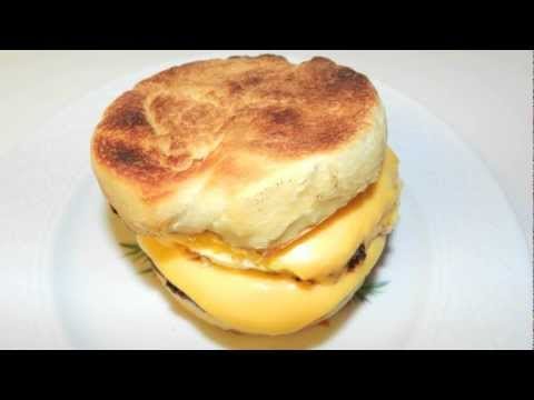 Breakfast Muffin Sandwich Recipe  -  With egg cheese and sausage