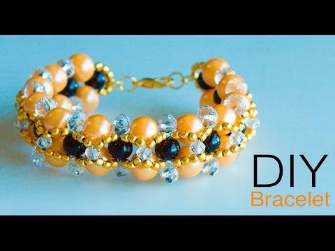 How to make pearl bracelet | DIY | Handmade pearl jewellery | Beads art