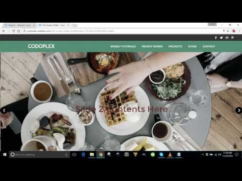 How to add full screen image slider in weebly website