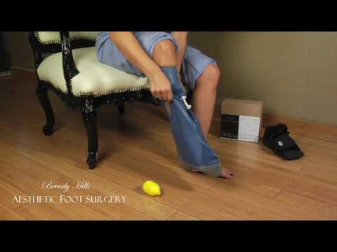 How to put on the Shower Boot (Dry Sock)