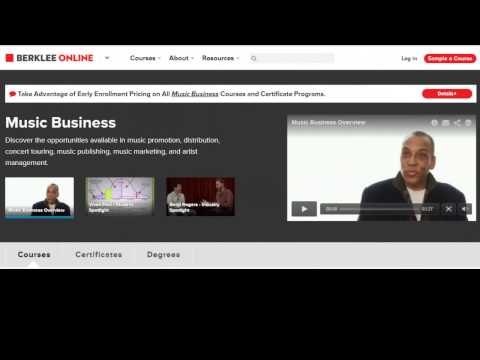 Music Business Degree ~ How To Get a MBA Online in Music Business