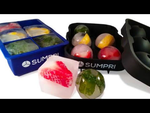 How to make Ice Balls with Fruits?  SUMPRI Ice Molds -Best Ice Ball Maker