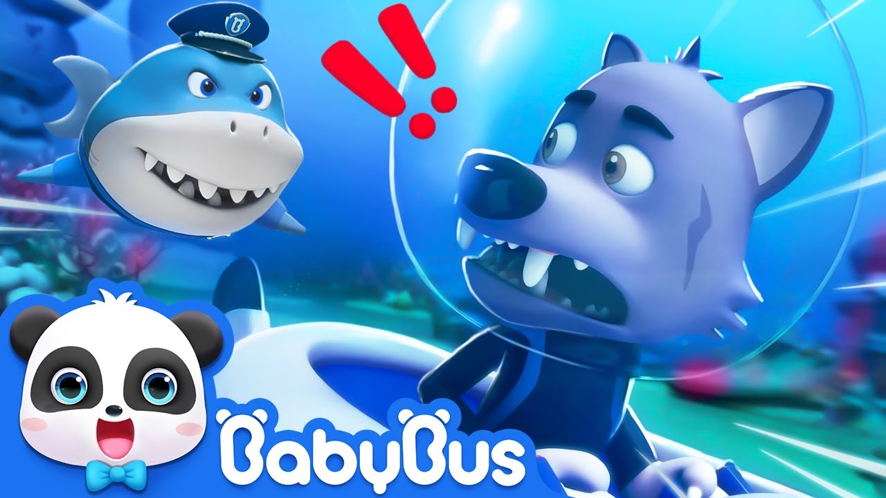 Super Panda Rescues Police Shark   Super Rescue Team   Baby Shark   Panda Cartoon For Kids   BabyBus