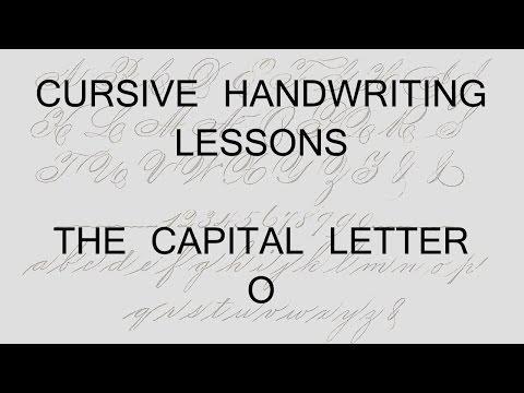 Cursive lesson 45 Writing a capital letter O handwriting penmanship calligraphy