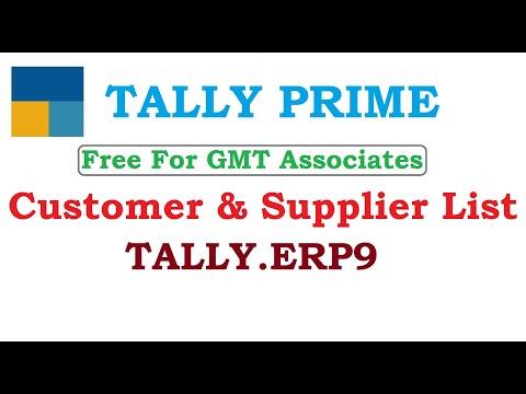 Customer & Supplier List
