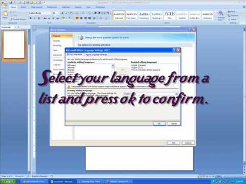 How To Change The Language in Microsoft Word 2007