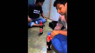 Open a beer bottle without bottle opener