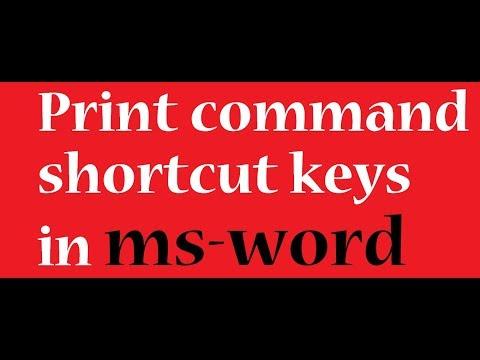print command shortcut keys