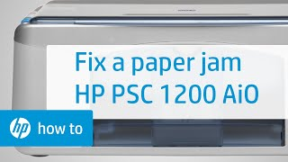 Fixing a Carriage Jam - HP Deskjet D1500 Printer | HP