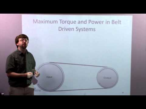 Belt Friction - Adaptive Map Video Lecture