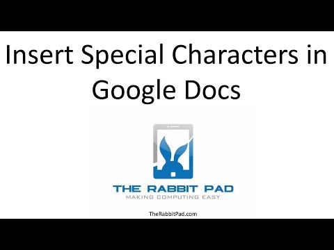 How to Insert Special Characters in Google Docs