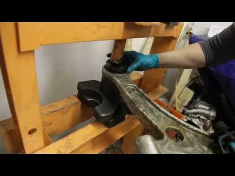 Installing Evo Front Control Arms Bushing Pt. 1