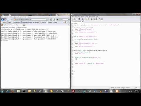 Extracting MySQL Data Using PHP