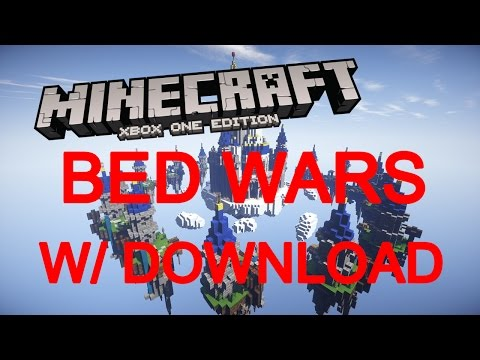 Minecraft Xbox One/360 PS4/3 Modded Bed Wars Map W/Download