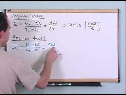 Angular Speed and Angular Acceleration - Physics Tutorial