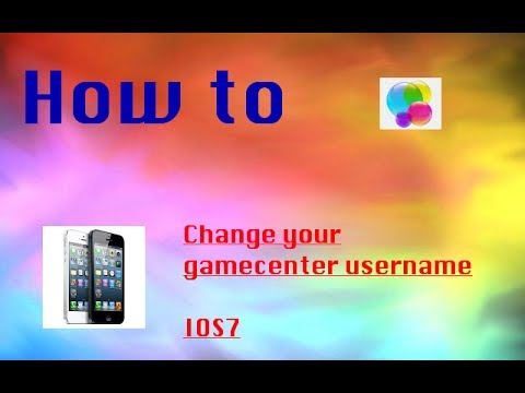 HOW TO CHANGE YOUR GAMECENTER USERNAME FOR IOS7