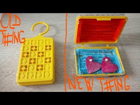 DIY How to transform freshener packaging in a box of earrings Tutorial