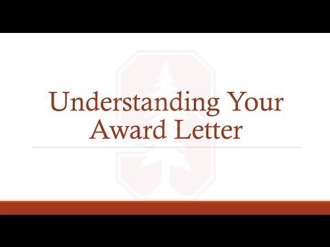 Understanding Your Award Letter