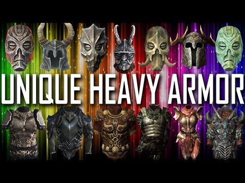 Skyrim - All Unique Heavy Armor Pieces And Sets